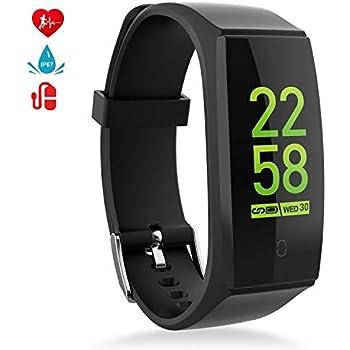 MINLUK Pulsera de Actividad Inteligente,Pulsera Actividad Impermeable IP67, Monitor de Dormir, Calorías, Ritmo Cardiáco, oxígeno en Sangre, ...