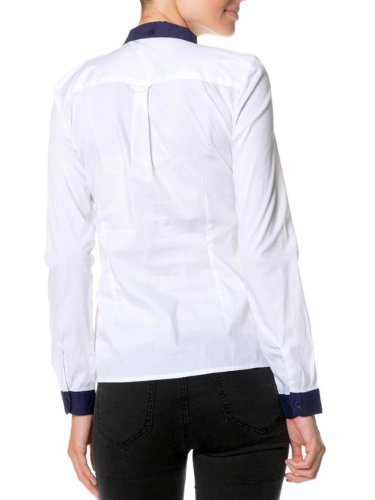 Vero Moda - Chemisier Vero Moda Lane Marine Blanc