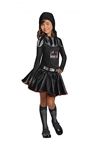 Star Wars Darth Vader Kostüm für Mädchen, (Vader Für Kostüm Mädchen Darth)