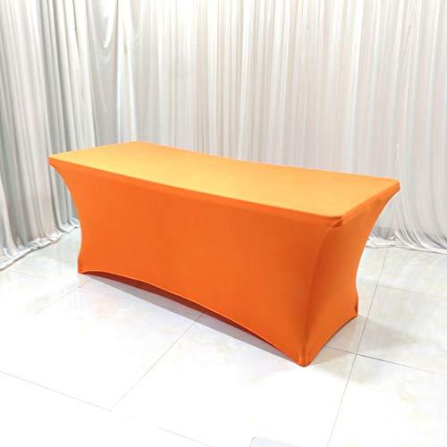 HOMEJYMADE Stretch Spandex Tabelle Cover für rechteckige tische,In ihrem zuhause Bankett Messe Tischdecke für Standard klapptische Schwarz-C 183 * 76 * 76CM -