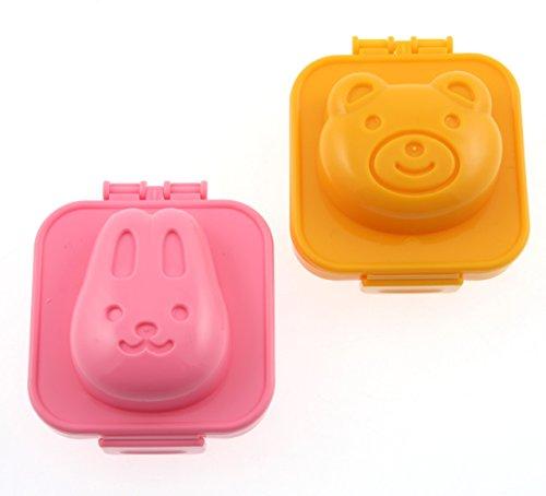 Kotobuki Kunststoff Ei Form, Kaninchen und Bär