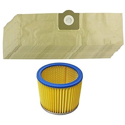 Spares2go Kit de bolsas de polvo y filtro para aspiradora Parkside/Lidl PNTS 130014001500(Pack de 20)