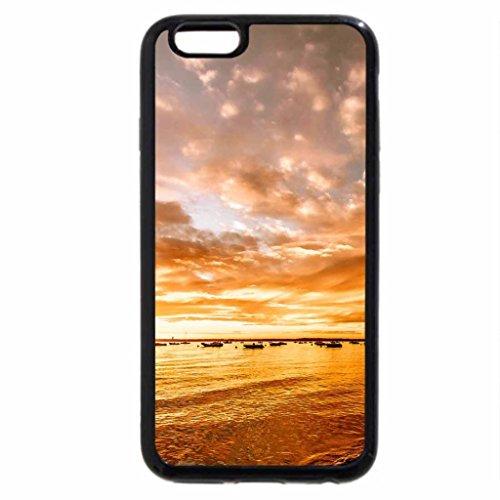 iPhone 3S/iPhone 6Coque (Noir) beach-sunset