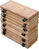 Weidenprofi Rollweg aus Lärchenholz, Lärche Holztritte für den Garten, Gartenweg - Größe wählbar: 25 x 250 cm, 35 x 250 cm … ((BxL) 35 x 250 cm)