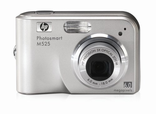 HP Photosmart M525 Digitalkamera, 6 Megapixel, 3-Fach optischer Zoom