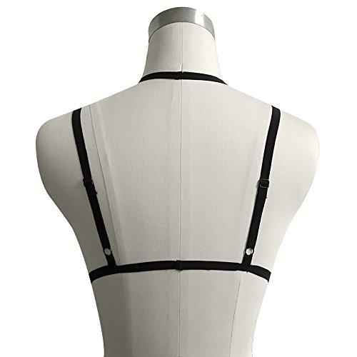 Add Health Damen Pentagramm Harness Strappy Geschirr Pentagramm Knechtschaft BH 100 Black