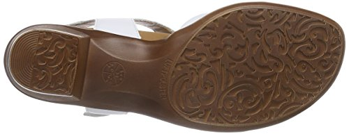 Ara - Lugano-sandalette, Scarpe col tacco con cinturino a T Donna Bianco (Weiß (weiss,kiesel/cana di fucile 06))