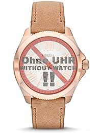 Fossil Uhrband Wechselarmband LB-AM4532 Original Ersatzband AM 4532 Uhrenarmband Leder 20 mm Beige