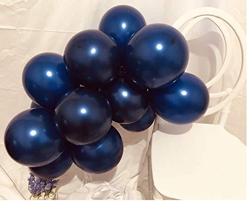 Erosion® Party Balloons 12 Zoll 50 Stück Latex Blau Ballons Geburtstag Ballons Helium Ballons Party Dekoration Kompatibel Hochzeit Geburtstag Weihnachtsfeier - Midnight Blue