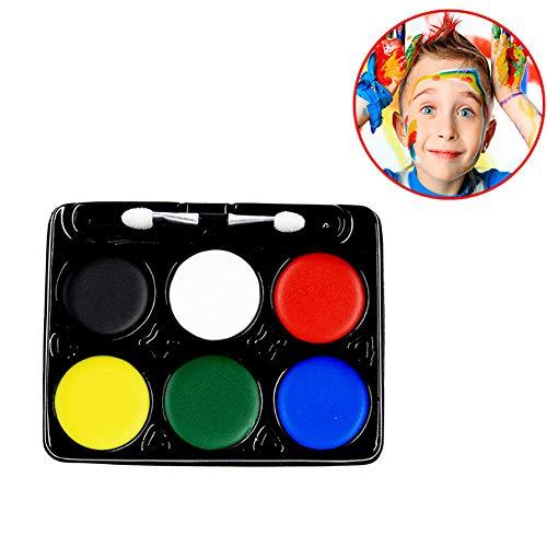 Wudi 6 Farbe Gesichts-Farben-Kit Safe Kids Facepainting Gesichts-Farben-Color-Öl für Kinder