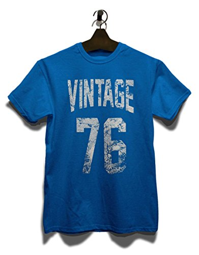 Vintage 1976 T-Shirt Royal Blau