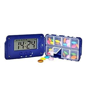 TabTime Super 8, Elektronische Pille Erinnerung mit 8 Alarm pro Tag. Essentielle für Parkinsons Patienten. Medikamentenerinnerung, Pillendose mit alarm. Tablettendose, Medikamentendosier.