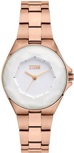 Storm London CRYSTANA 47254/RG Montre Bracelet pour femmes Plat & léger