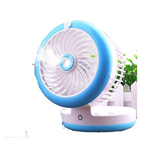ZZHDDP Usv kleiner Lüfter Wiederaufladbare Kühlung Befeuchtungsventilator Student Schlafsaal Büro Sprüher Fan Mini-Bett mit Klimaanlage Ventilator (3 Farben optional) (12 * 9cm) (Farbe : - Motor U Min-dc / 2000