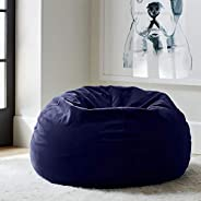 Regal In House relaxing bean bag velvet Large - Dark Blue