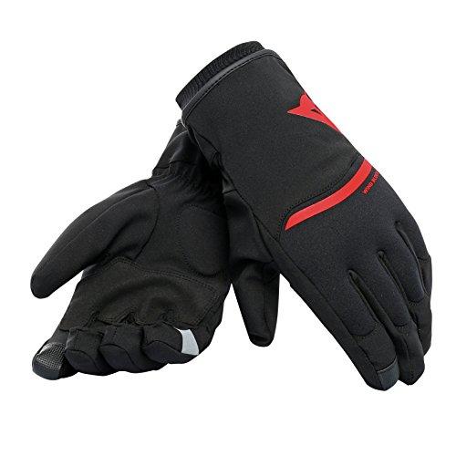 Dainese Handschuhe Plaza 2 Unisex D-Dry, schwarz/rot, Größe L