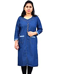 Denim Kurti/Kurta for Women by Aarti collections- Style in Dark blue long cut