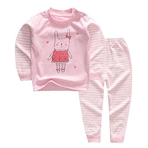 100% Baumwolle Baby Jungen Mädchen Pyjamas Set Langarm Nachtwäsche (6M-5Jahre) (Tag50 (6-12 Monate), Hase), Muster 3 (Pyjama-3 Monate)