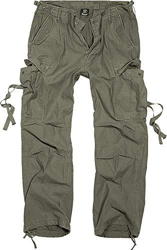 BRANDIT M65 Vintage Pantalón Cargo De Hombre  Los clásicos pantalones de estilo militar en el típico formato M65. Cómodos pantalones de ocio holgados en tejido suave de algodón.  Particularmente llamativas son las correas en los bolsillos de las pier...
