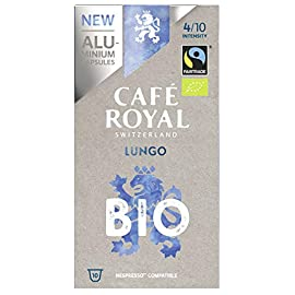 Cafe Royal Lungo Bio/Organic Coffee Pods, 1.25 kg, Lot of 5
