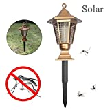 Ywoow Repellent Lamp Solar Powered Led Light Pest Bug Zapper Insect Mosquito Killer
