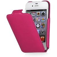 StilGut Slim Case exklusive Tasche für Apple iPhone 4 & iPhone 4s Smartphone aufklappbar, Rosa