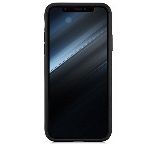 Coque iPhone X - Housse [zanasta] Etui Bumper Protection en TPU Silicone Gel Clair Crystal Cover Transparent-Rouge Transparent-Noir