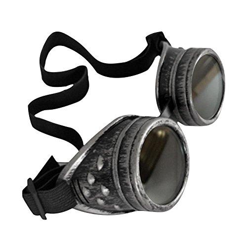 iBàste Steampunk-Retro-Brillenkleidung mit Reitschutz-Okularen Retro Vintage Victorian Steampunk Reitbrille Brille Schutz Okulare Schweißen Cyber Punk Gothic ()