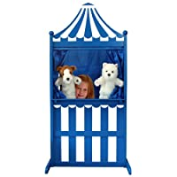 The Puppet Company - Wilberry Wood - 3 in 1 Puppet Theatre - Blue & White
