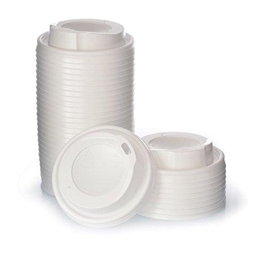 Coffee To Go Deckel 0,2 l für Pappbecher Ø 80 mm 1000 Weiße Deckel 1000 Stück