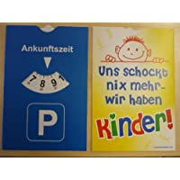 Gilde Fun Auto Parkscheibe Parkuhr mit Spruch Uns schockt nichts mehr...