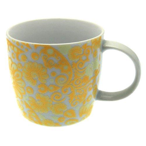 Tasse à Café en Porcelaine, Fleur Fantasy, Jaune, Gobelet, Tasse, 280 ml