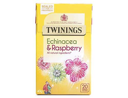 Twinings Equinácea Y Té De Frambuesa Bolsas 20 Por Paquete (Paquete de 2)