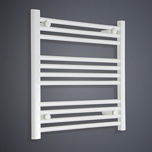 650x 600mm termostático eléctrico toallero blanco Straight Escalera Baño Radiador precargada