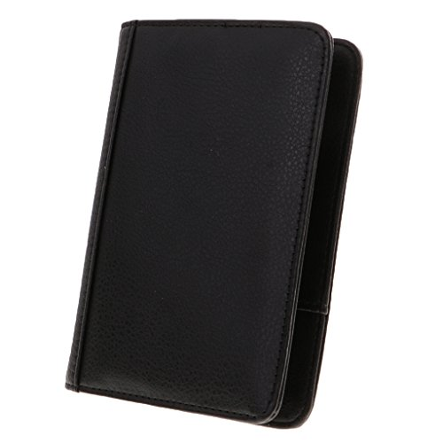 Gazechimp Tragbar Kartenmappe Geldbörse Reisepass Schutzhülle aus PU-Kunstleder Geschenk für Damen und Herren - 14,5x10x1cm - Schwarz