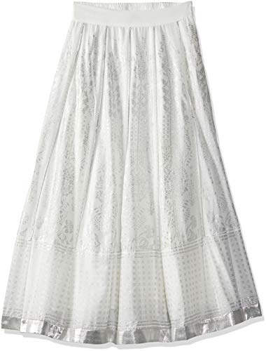 W for Women Full Maxi Skirt (18FE55382-51018_White_WL)