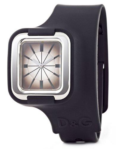 Dolce & Gabbana D&G - Reloj analógico de cuarzo para mujer con correa de caucho, color negro