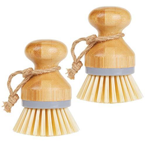 MDesign Juego 2 cepillos bambú fregar platos - Cepillo