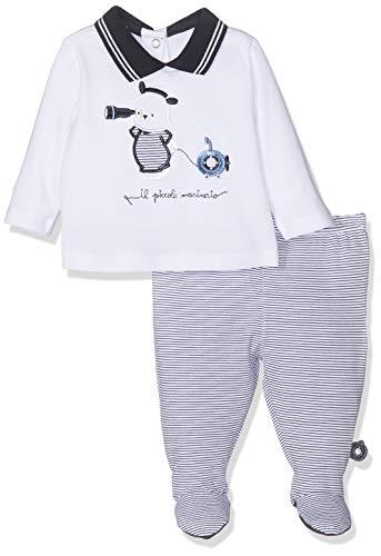 Chicco set coprifasce + ghettina body, blu stampato 086, neonato (taglia produttore:044) bimbo