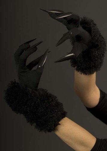 Damen-Handschuhe, lang, Schwarze Katze mit (Handschuhe Nagel)