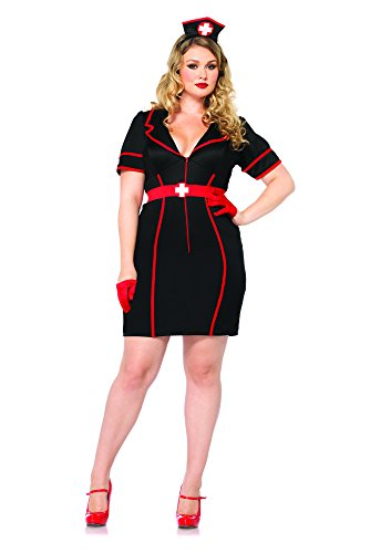 Leg Avenue 85282X - Naughty Nurse Kostüm Set, 3-teilig, Größe 48-50, (Kostüme Size Plus Amazon Halloween)