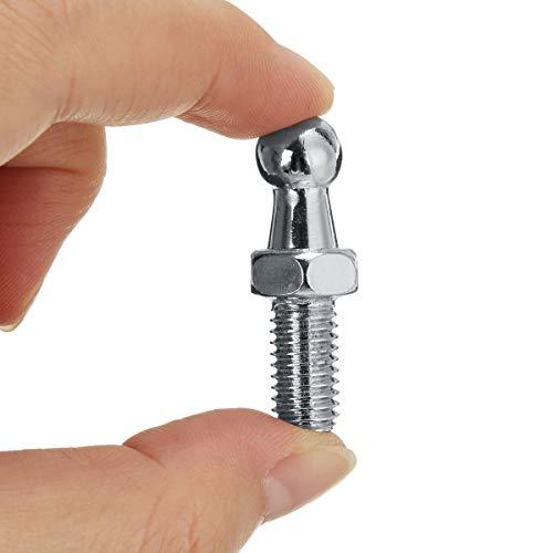 Universal Joint Pin (JenNiFer Universal Silver 2Pcs Boot Bonnet Gas Strut Endmontieren 10Mm M8 Ball Pin Joint Valve Spring)