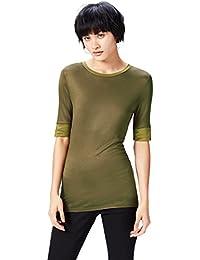 Marchio Amazon - find. T-shirt Girocollo Lunga Donna