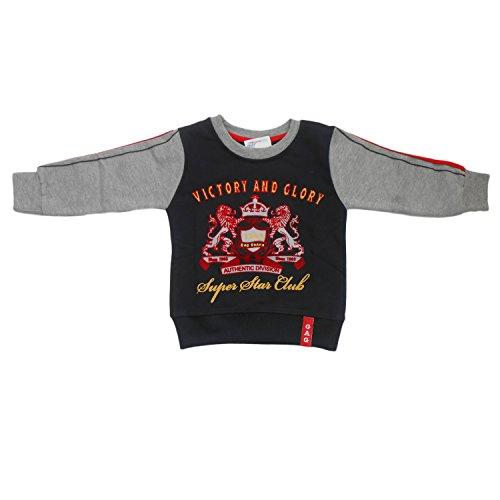 NammaBaby Premium Full Sleeves Sweat T-Shirt Victory Boy (5-6 years, BLACK)