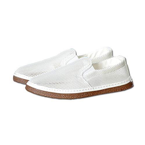 Chaussures HAIZJEN Homme, Blanches, en Maille, de Sport Respirantes pour Hommes d'été
