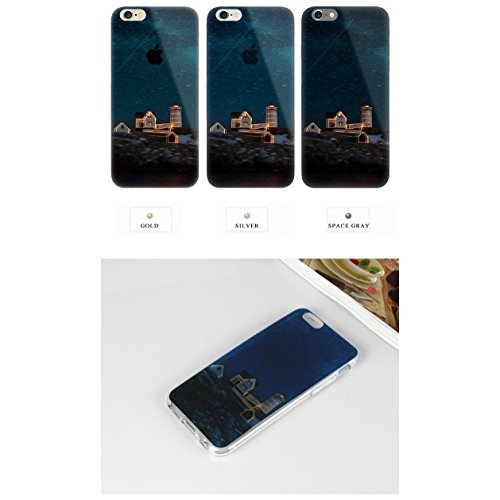 """Tsuger Custodia Morbido per Apple iPhone 6-4.7"""" Case Cavor plastica sottile Trasparente Chiaro TPU Silicone Gel Bumper + shell plastica PC Cassa Caso Protezione Cellulare Anti Scivolo Ammortizzante--i 2"""