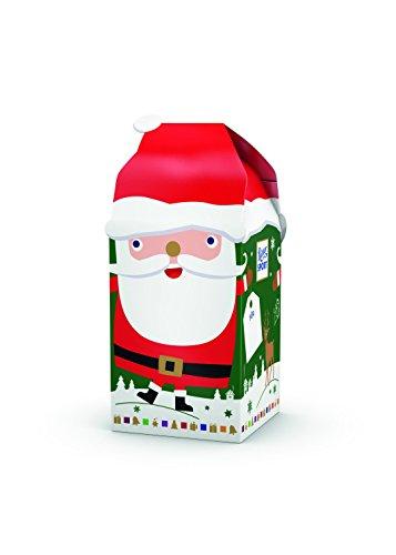 RITTER SPORT Weihnachtsmann Geschenk, Nikolaus Geschenk, mit Schokolade gefüllt, Geschenkidee für Männer und Frauen, ideal für den Nikolausstiefel, 5 x 77 g