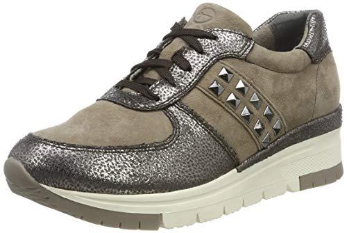Tamaris Damen 1-1-23720-33 Sneaker, Braun (Taupe/Pewter 369), 38 EU