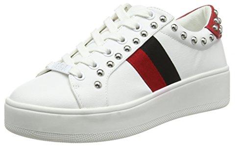 Steve Madden Damen Belle Sneaker, Mehrfarbig (White Multi 077), 37 EU Bella Sneaker