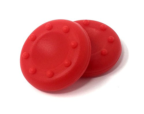 2 X RED PS4 – PS3 – XBOX ONE – XBOX 360 – Controller Rubber Thumbstick Grips Thumb Stick Grip Pads